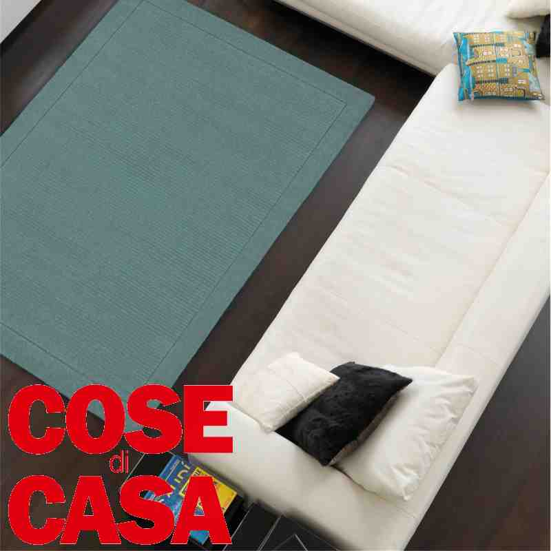 tappetto moderno York teal