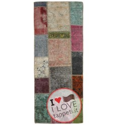 tappeto persia vintage patchwork cm 71x200