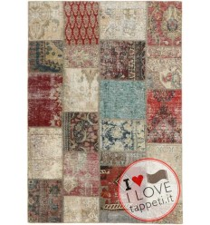 tappeto persia vintage patchwork cm 142x200