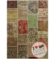 tappeto persia vintage patchwork cm 141x201