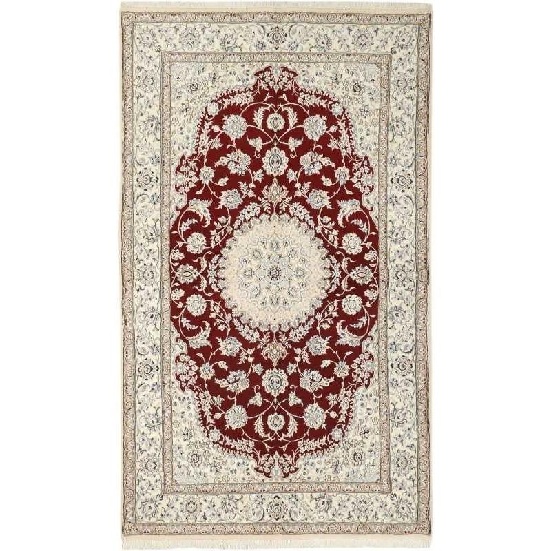 tappeto persia nain fine con seta cm 155x254