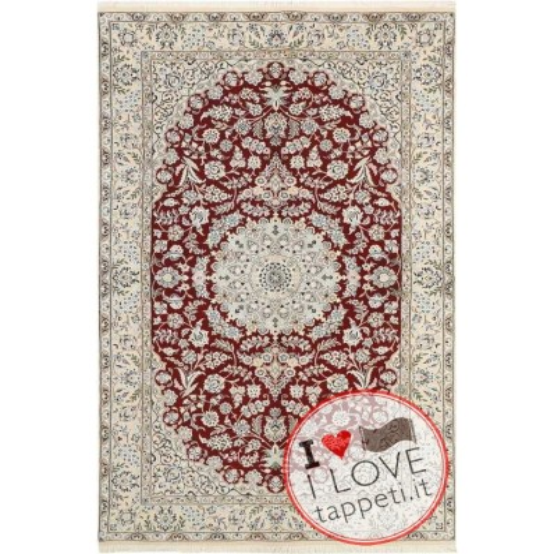 tappeto persia nain fine con seta cm 154x256