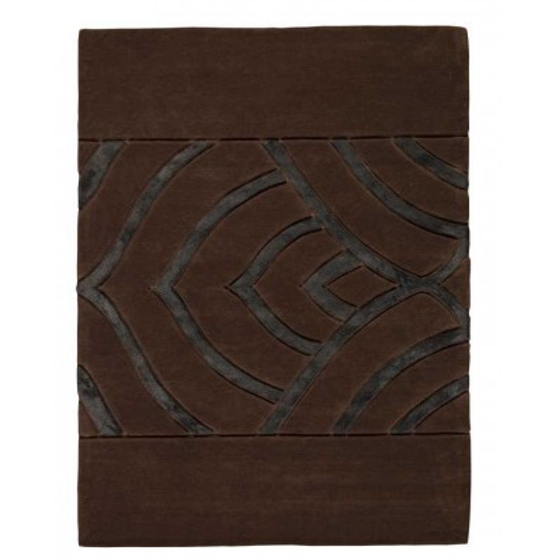 Tappeto moderno Iris brown Renato Balestra cm.170x240 in offerta