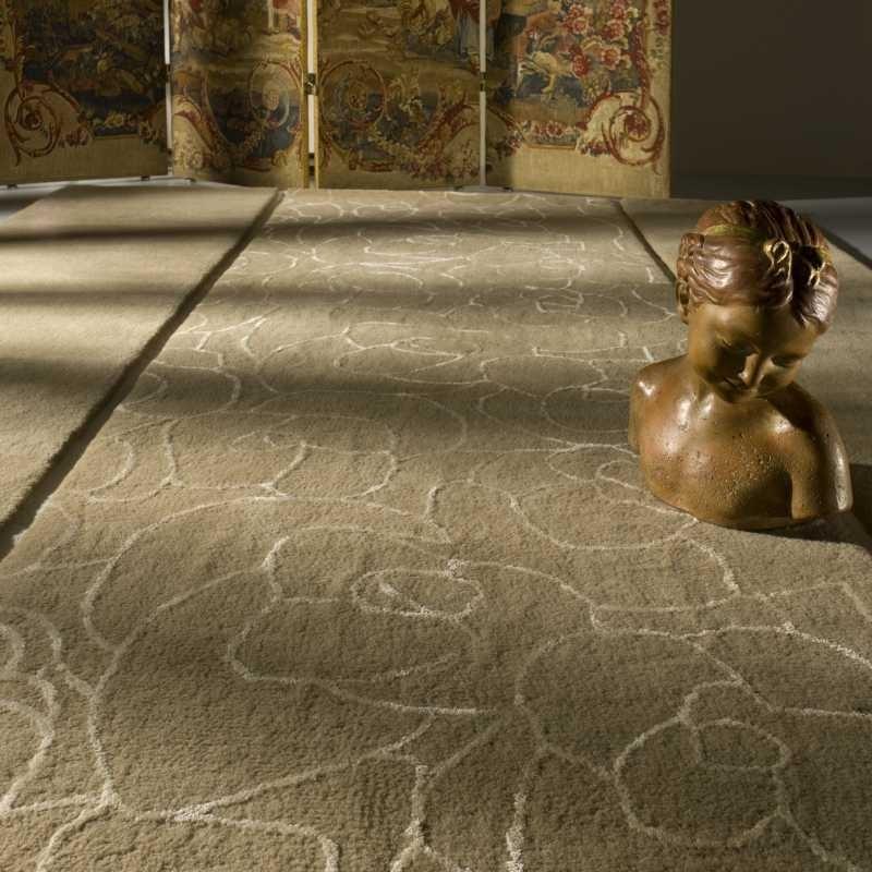 Tappeto moderno Vega beige Renato Balestra cm.140x200 in offerta