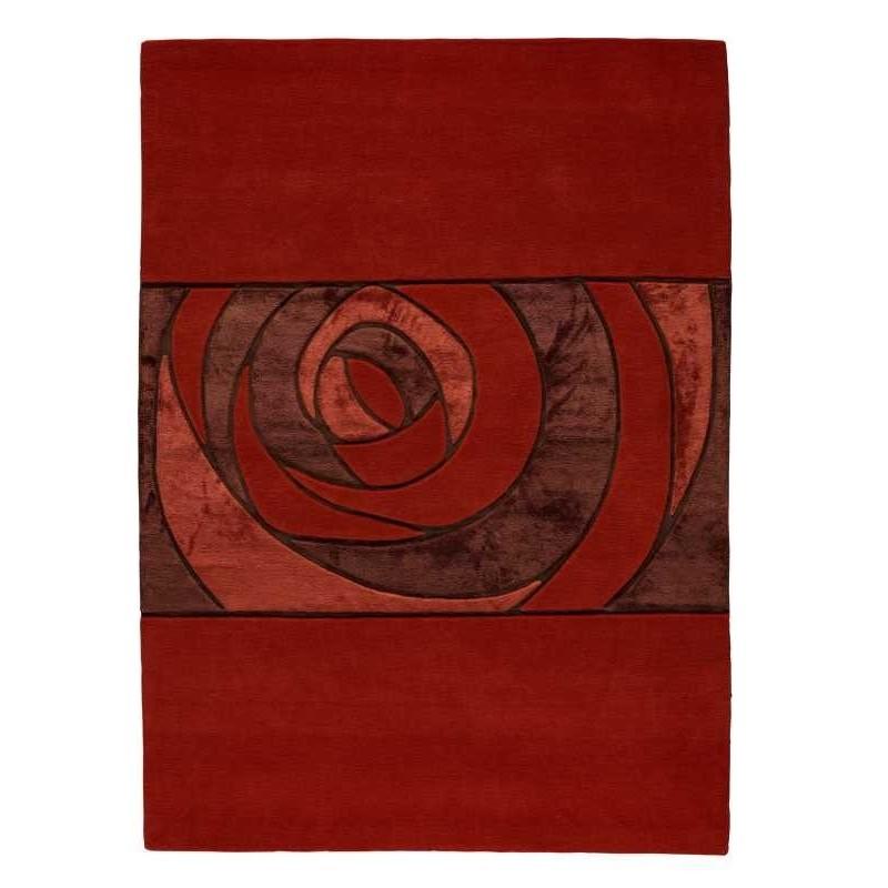 Tappeto moderno Wallflor Gravity Red Lauren Jacob
