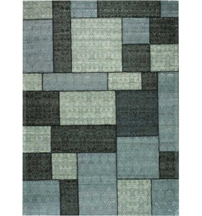 Carpet moderno Wallflor Patchwork 1 Dark Grey Lauren Jacob