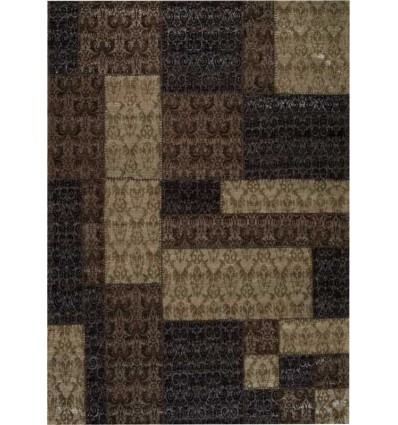 Tappeto moderno Wallflor Patchwork 8 Brown Lauren Jacob
