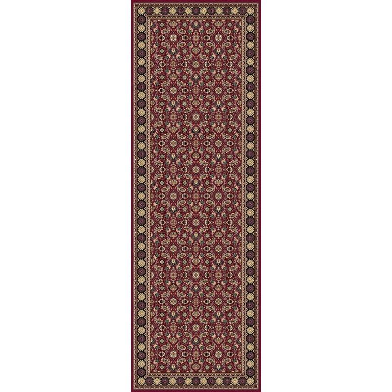 Carpet classico Tabriz classico passatoia rosso senza medaglione 12176