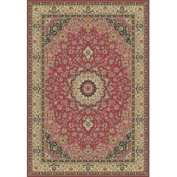 Tappeto persiano Isfahan classico medaglione rosa 12217
