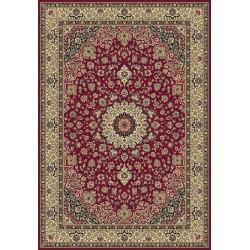 Tappeto persiano Isfahan classico medaglione rosso 12217