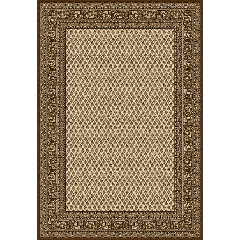 Tappeto persiano Mir classico senza medaglione crema-marrone 12264