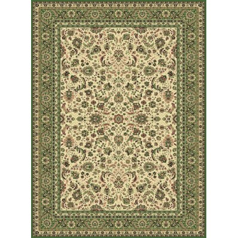 Carpet classico Tabriz classico floreale crema-verde 13720