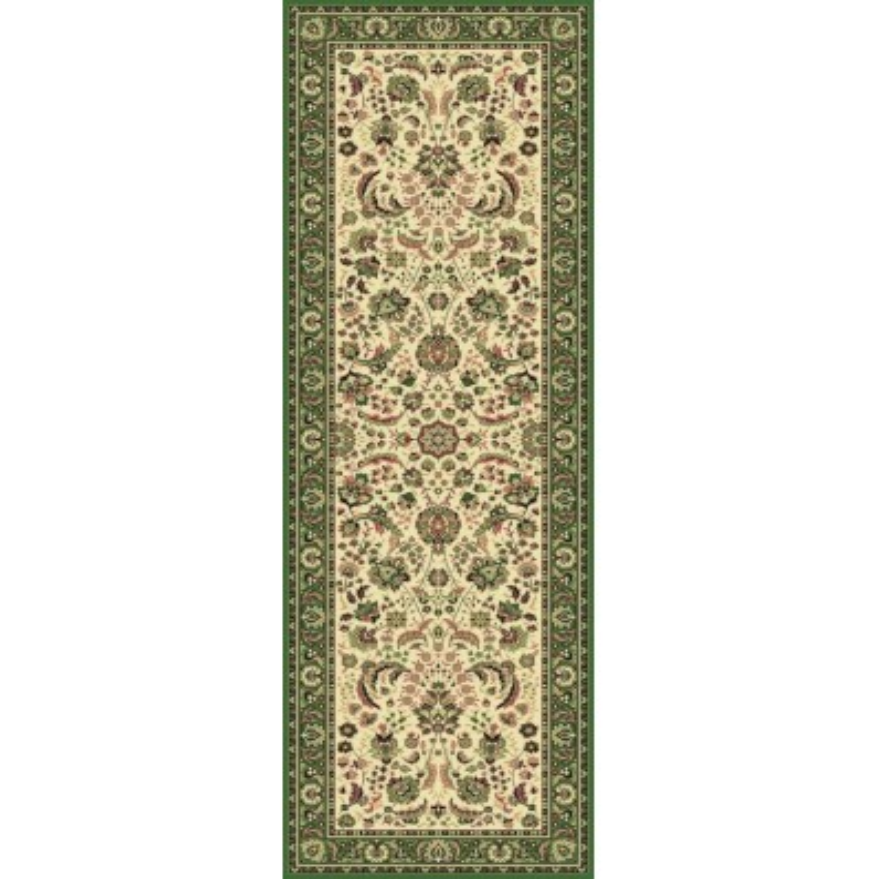 Carpet classico Tabriz classico passatoia floreale crema-verde 13720