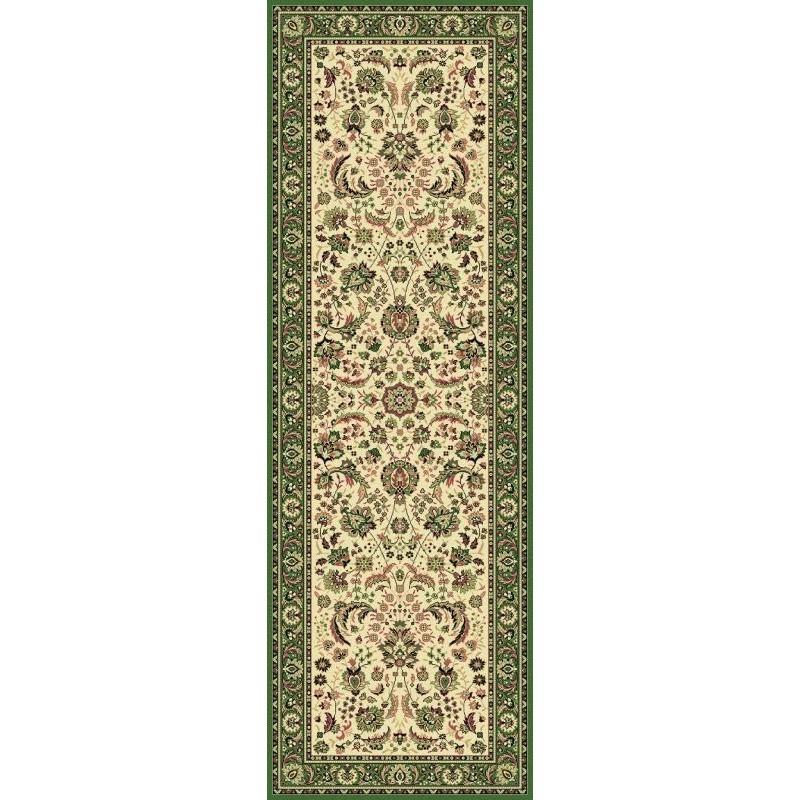 Tappeto persiano Tabriz classico passatoia floreale crema-verde 13720