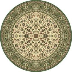 Tappeto persiano Tabriz classico rotondo floreale crema-verde 13720
