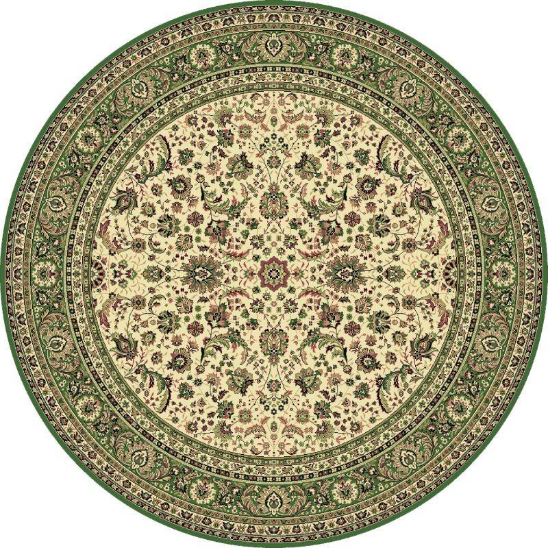 Carpet classico Tabriz classico rotondo floreale crema-verde 13720