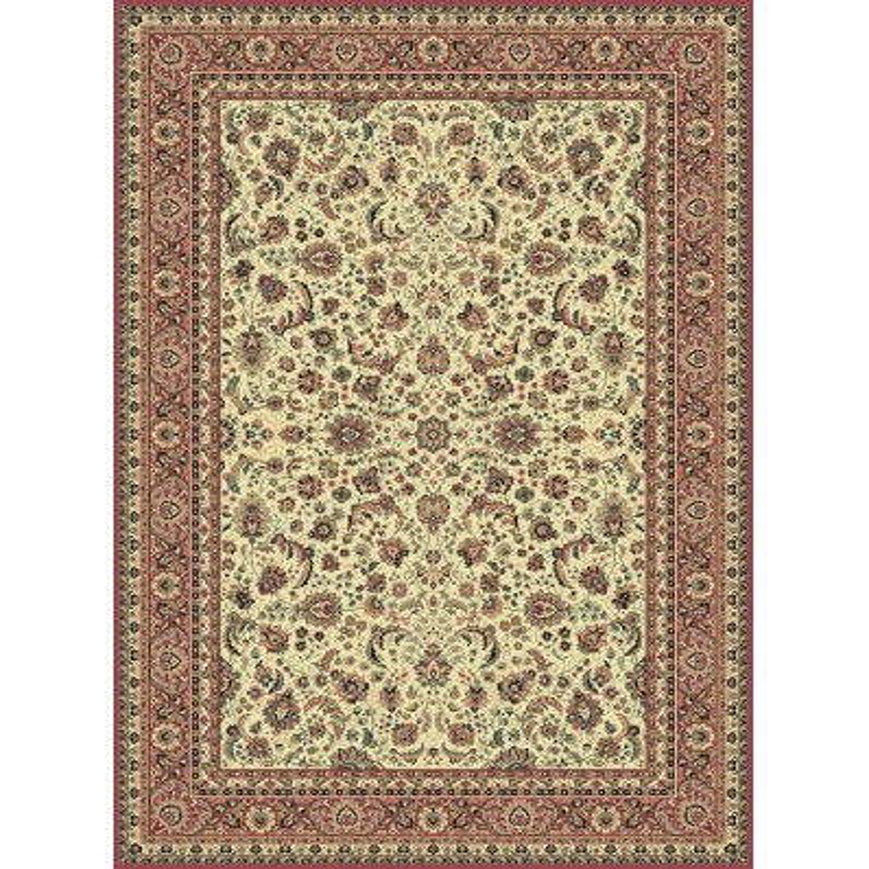 Carpet classico Tabriz classico floreale crema-rosa 13720