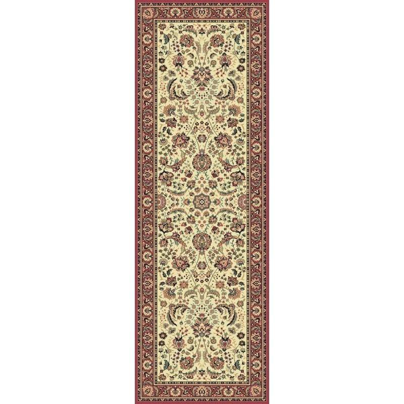 Carpet classico Tabriz classico passatoia floreale crema-rosa 13720