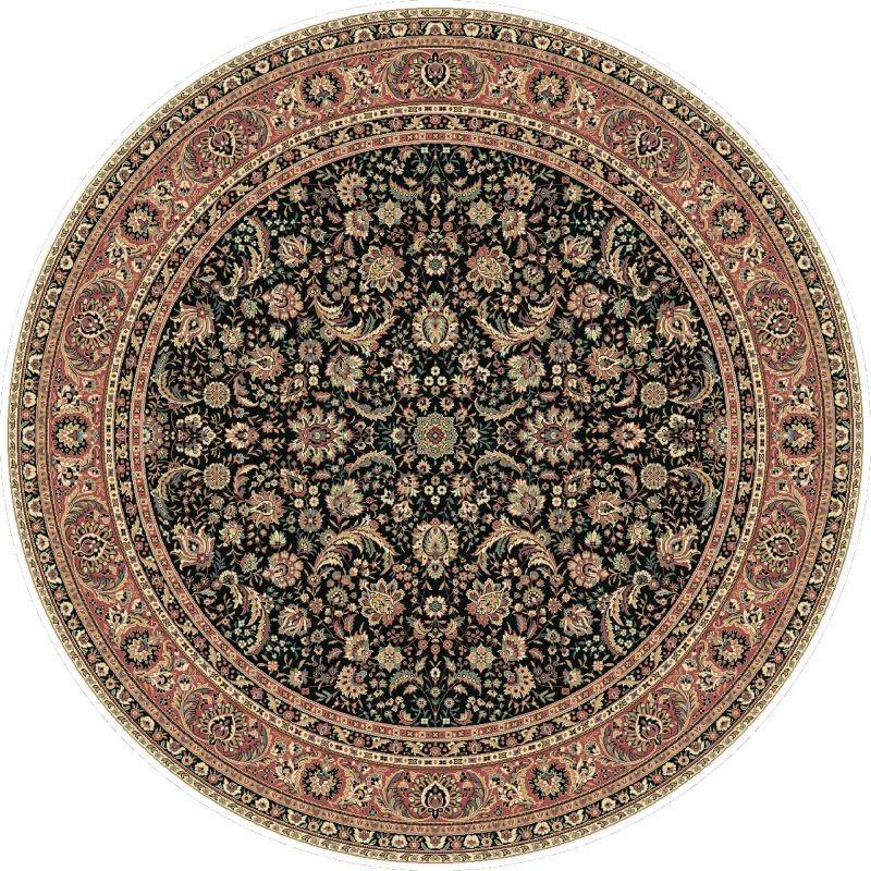 Tappeto persiano Tabriz classico rotondo floreale marine 13720
