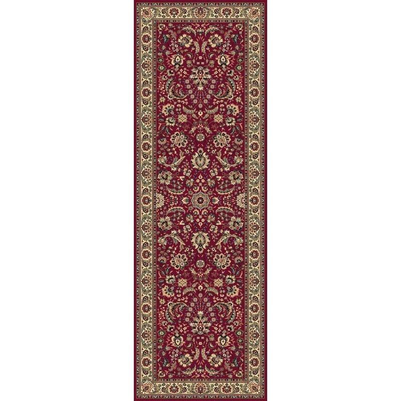 Carpet classico Tabriz classico passatoia floreale rosso 13720