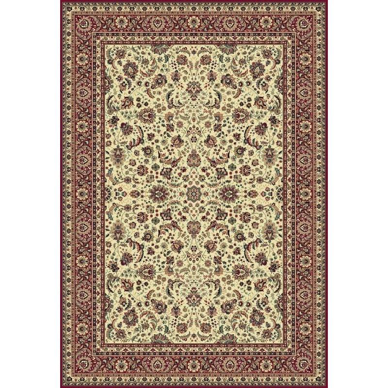 Tappeto persiano Tabriz classico floreale crema-rosso 13720