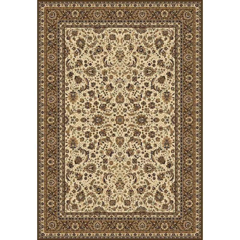 Carpet classico Tabriz classico floreale crema-marrone 13720
