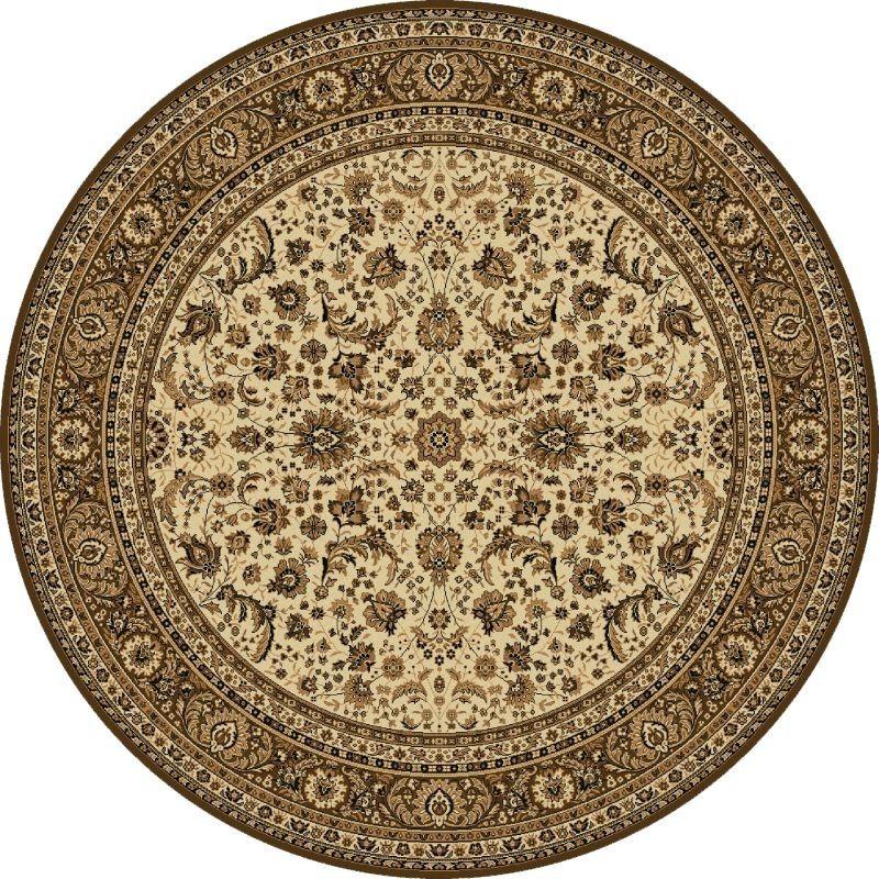 Carpet classico Tabriz classico rotondo floreale crema-marrone 13720