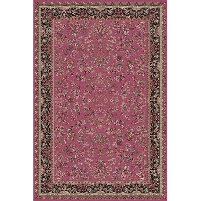 Tappeto persiano Isfahan lana rosa 1236