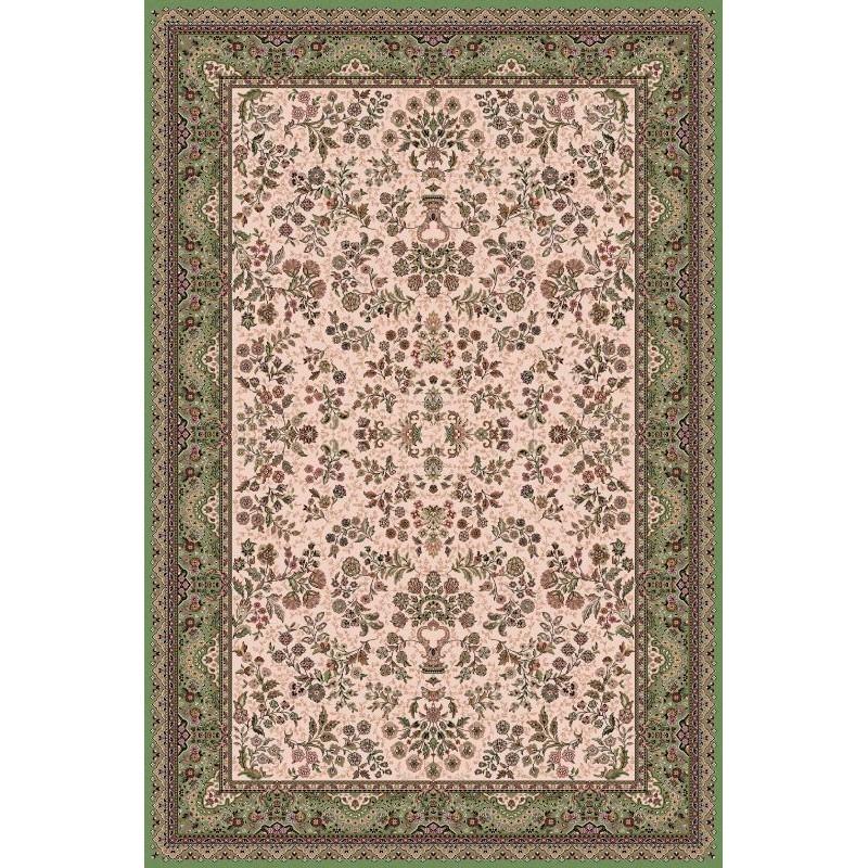 Tappeto persiano Isfahan lana crema-verde 1236