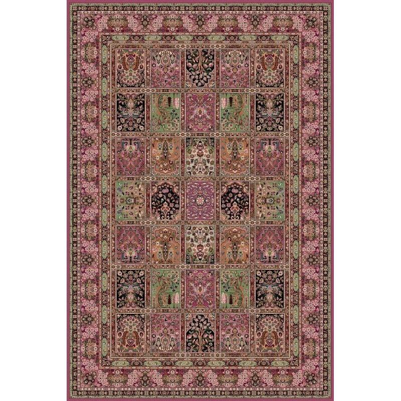 Tappeto persiano Qum formelle lana rosa 1258