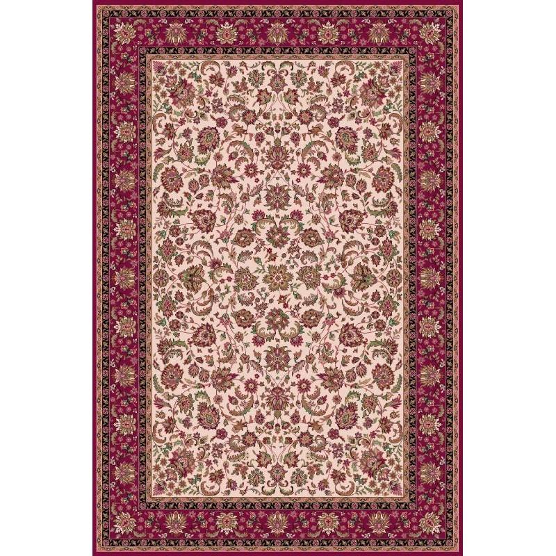 Carpet classico Isfahan lana crema-rosso 1276-680