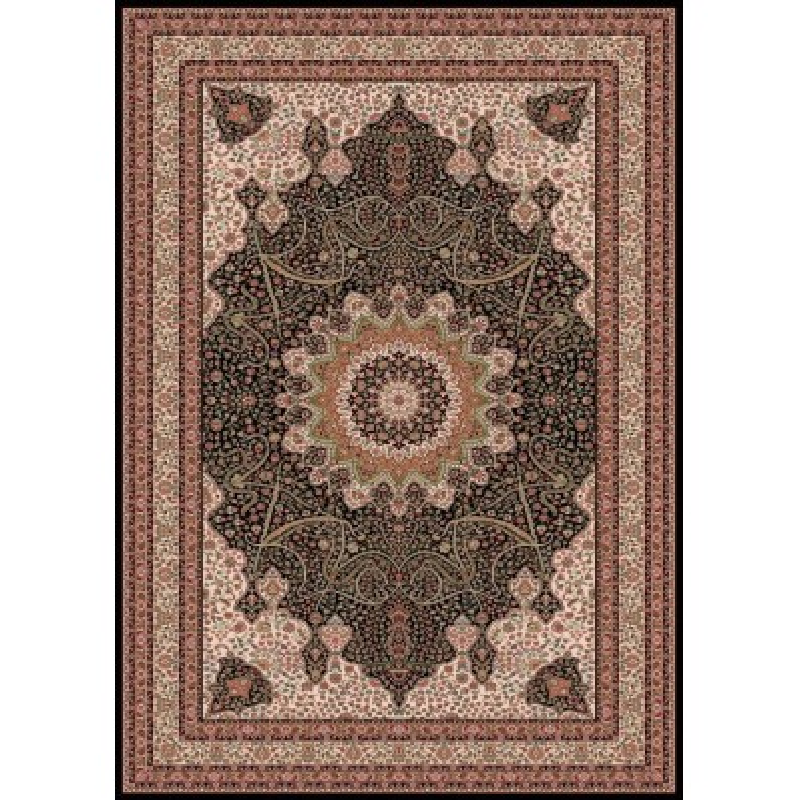 Carpet classico Isfahan lana medaglione marine 1285-678