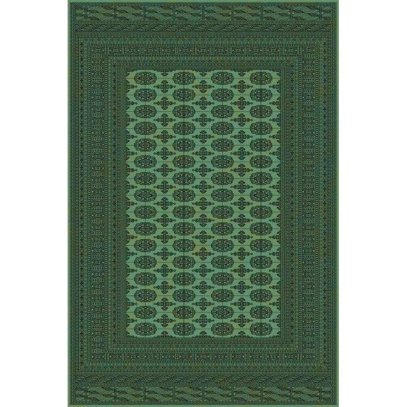Carpet classico Bukhara lana extra fine verde 1292-671