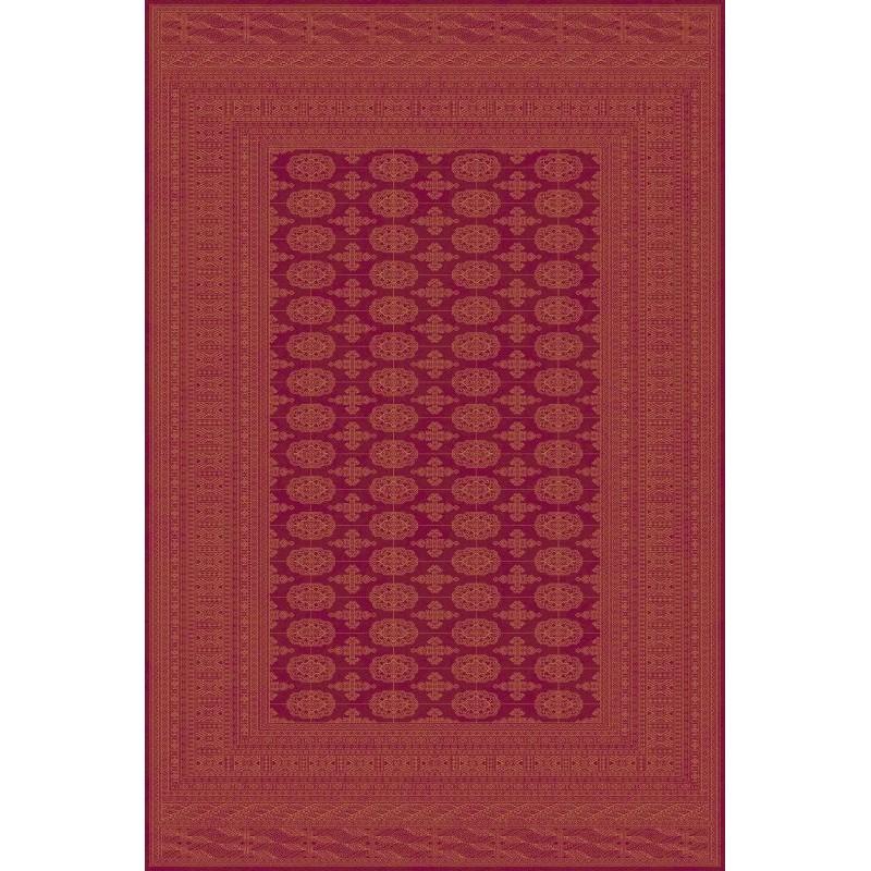 Carpet classico Bukhara lana extra fine rosso 1292-677