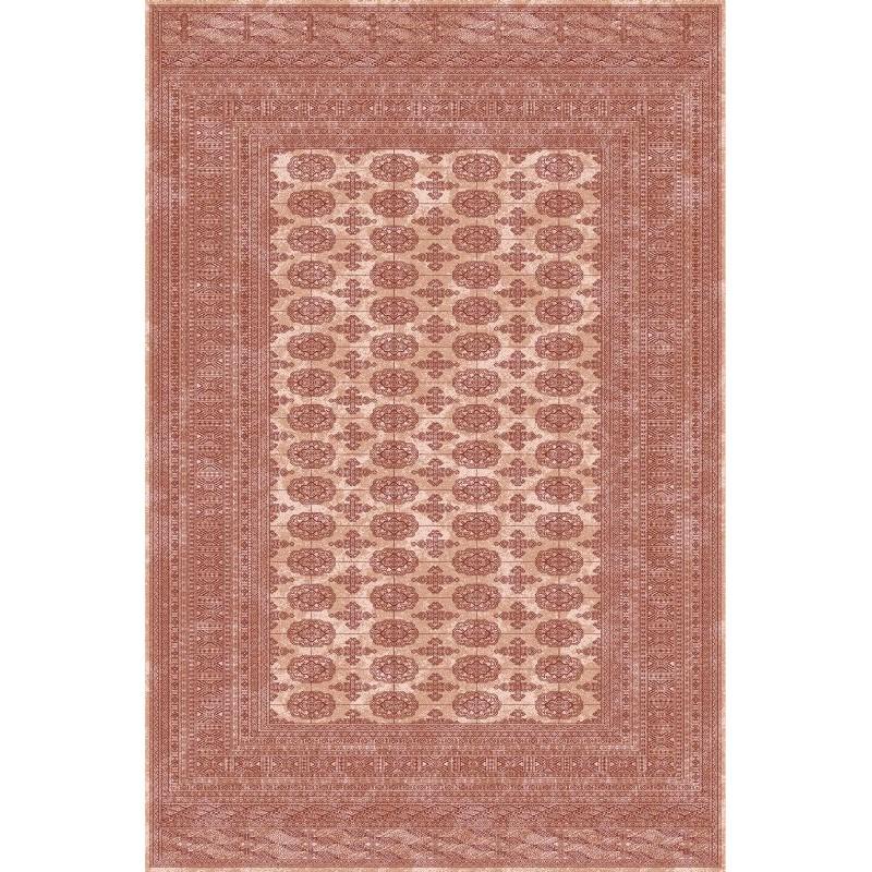 Carpet classico Bukhara lana extra fine crema-terra cotta 1292-694