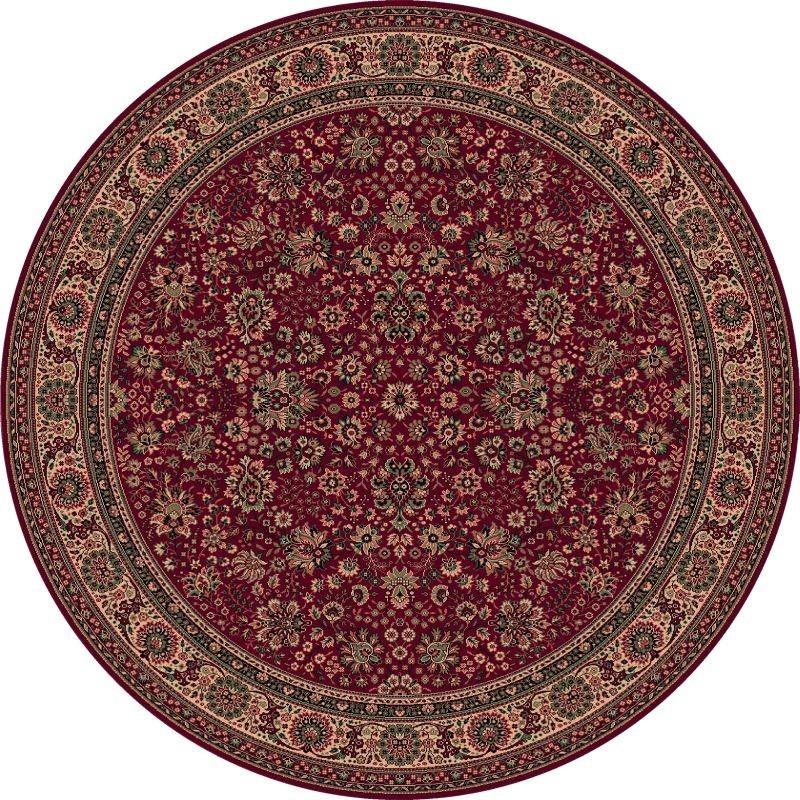 Carpet classico Tabriz fine lana rotondo rosso 1570-507