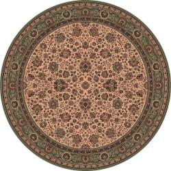 Tappeto persiano Tabriz fine lana rotondo crema-verde 1570-508