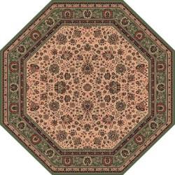 Tappeto persiano Tabriz fine lana ottagonale crema-verde 1516-508
