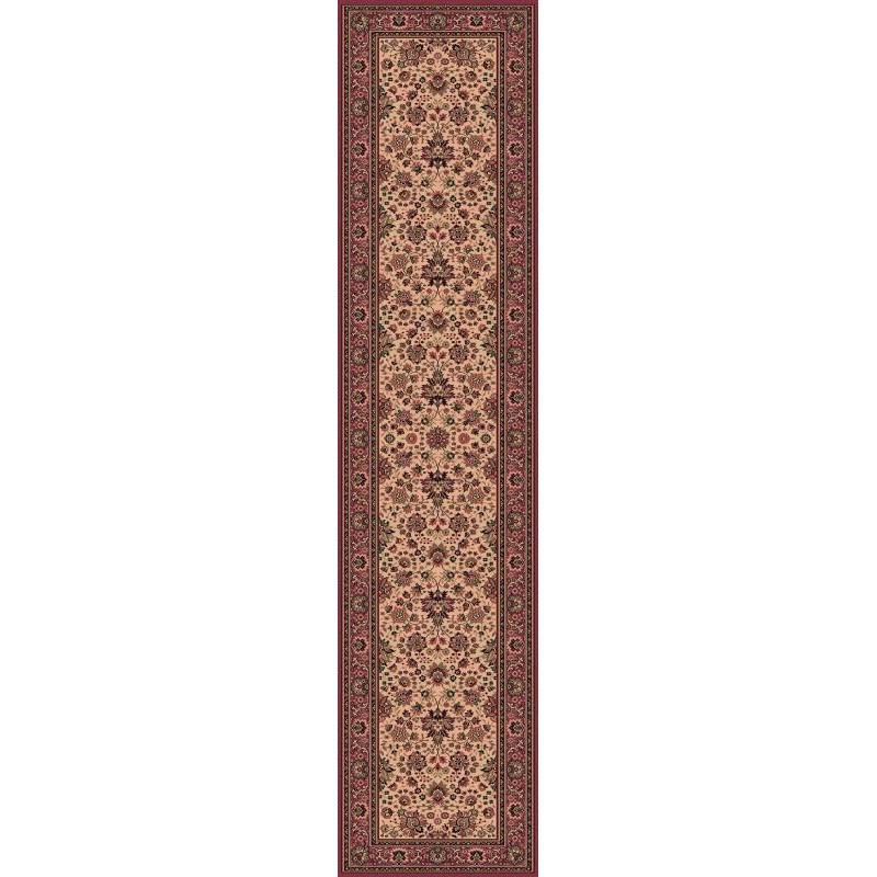 Tappeto persiano Tabriz fine lana passatoia crema-rosa 1561-515