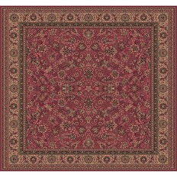 Carpet classico Tabriz fine lana quadrato rosa 1561-516