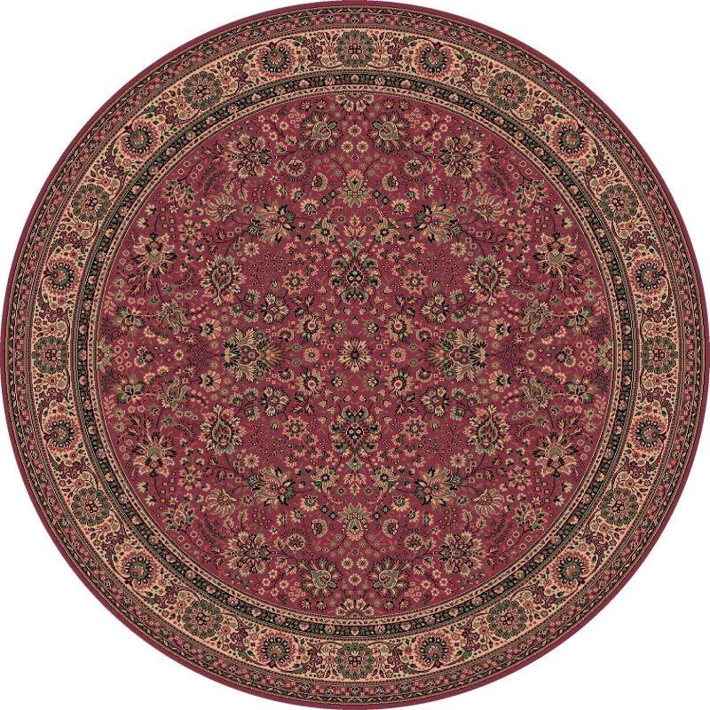 Tappeto persiano Tabriz fine lana rotondo rosa 1570-516