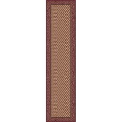 Tappeto persiano Mir fine lana passatoia crema-rosa 1581
