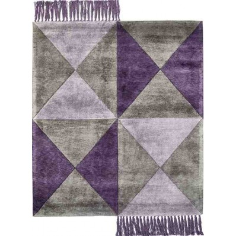 tappeto BUTTERFLY SITAP PURPLE SETA geometrico da EUR 872.3