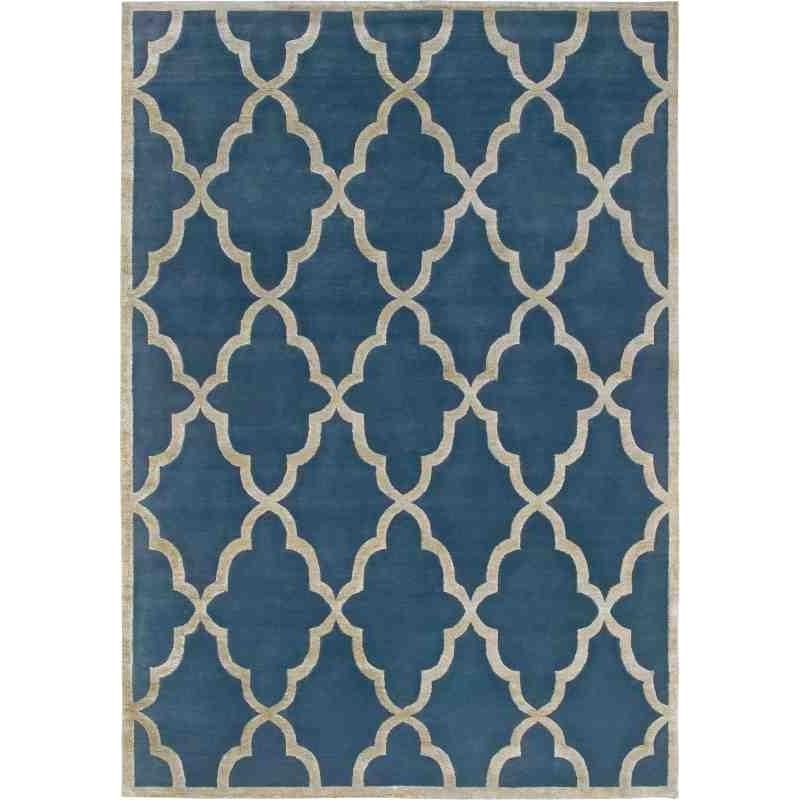 tappeto CHANTAL SITAP BLUE LANA geometrico da EUR 2244.8