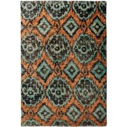 Carpet HIMALAYA SITAP IKAT BLUE geometrico da EUR 658.8