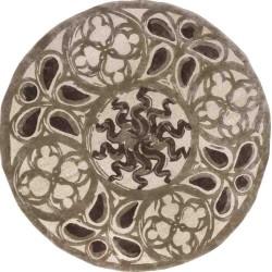 Carpet MEDUSA SITAP BEIGE-BROWN ROTONDO SETA floreale da EUR 1134.6