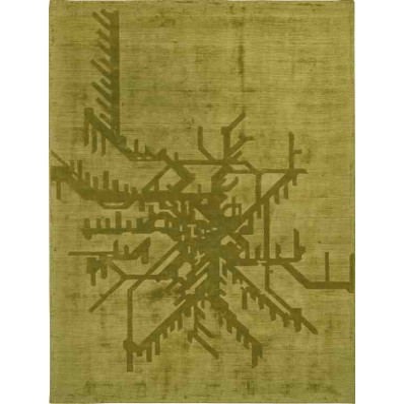 Carpet METROPOLITAN SITAP GREEN SETA fantasia da EUR 683.2