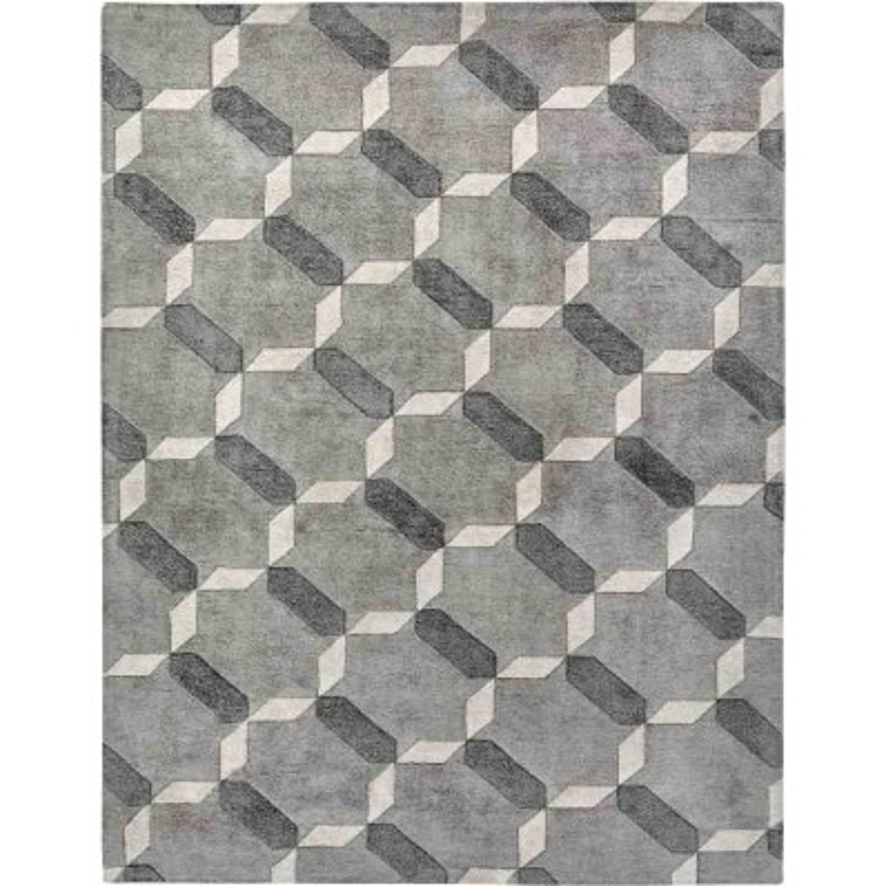 tappeto PENELOPE SITAP GREY SETA geometrico da EUR 890.6