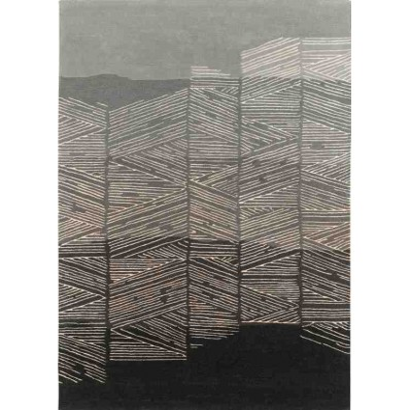 tappeto ROME SITAP GREY LANA geometrico da EUR 719.8