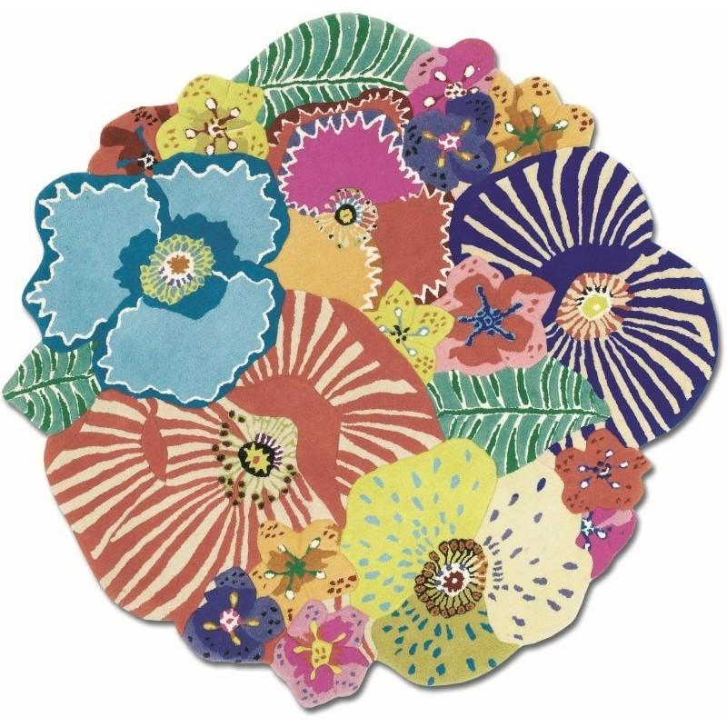 Carpet floreale Missoni Oxley T100 rotondo cm.150x150